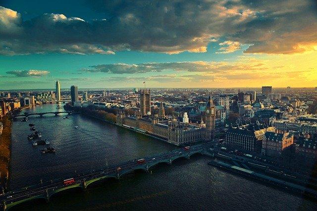 A birdseye view of London
