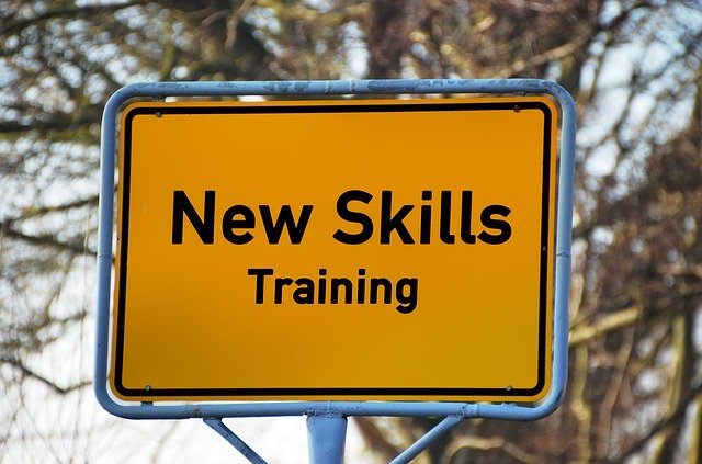 A sign signalling an area where you can learn new skills