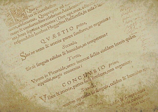 A script in latin