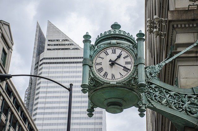 A historic clock in London